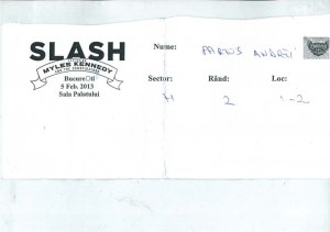 Invitatie la concertul Slash