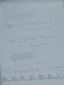 Autograf de la Toto Cutugno