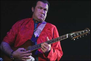 STEVEN SEAGAL sings