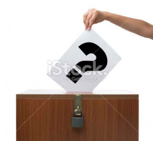 question mark voting
