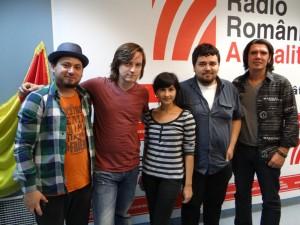 Cosmin Vaman, Alexandra Andrei şi trupa SPAM la Radio Romania Actualitati