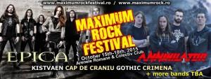 Maximum Rock Festival 15 - 18 octombrie