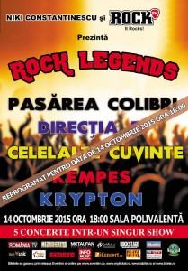 Rock Legends 14 octombrie