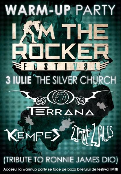 Warm up party I AM THE ROCKER cu Mike Terrana, Kempes 3 iulie