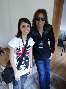 După interviu, alături de Joey Tempest