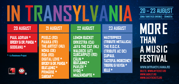 in transylvania 2015 line-up