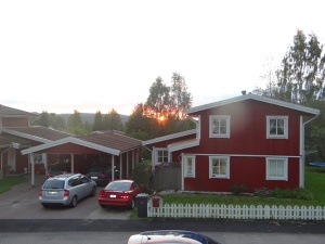 Apus de soare la casa părintească, în Ludvika.