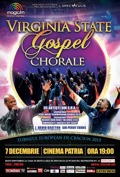 Virginia-State-Gospel-Chorale-Poster-BUCURESTI 7 decembrie