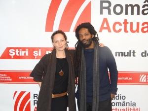 Petra Acker si Joel Holmes la Radio Romania 2015