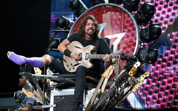 Dave Grohl in Washington, D.C. APTOPIX