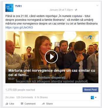 postare TVR 1 exclusiv online cazul Botnariu