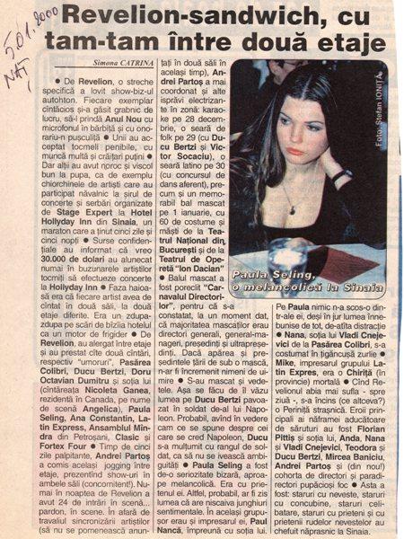 UN REVELION NETELEVIZAT POVESTIT DE SIMONA CATRINA ON ZIARUL NATIONAL 2000 a