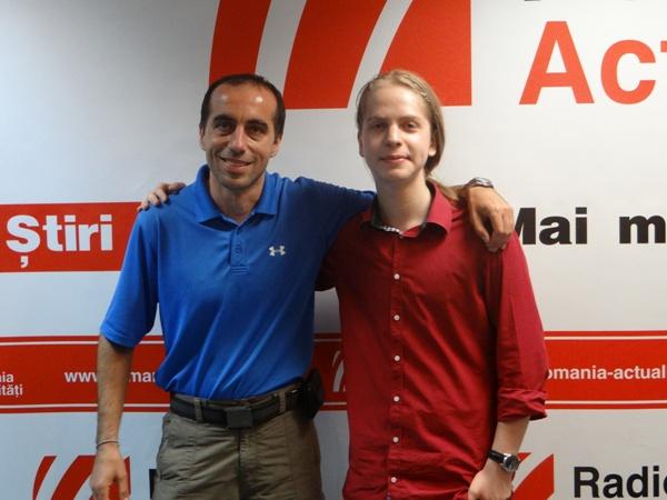 Cezar Giosan si David A Marin la Radio Romania