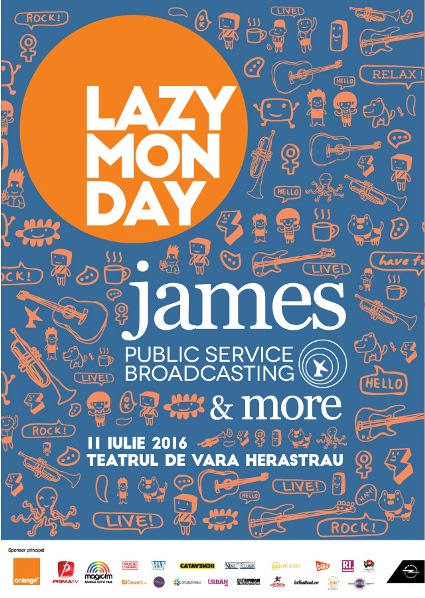 Lazy Monday - James & Public Service Broadcasting 11 iulie