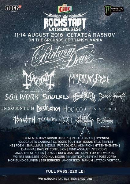 Rockstadt Extreme Fest 14 august
