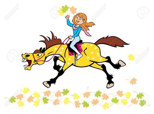 riding a horse a