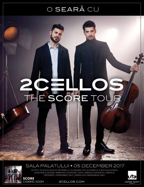 Poster 2CELLOS 5 decembrie 2017