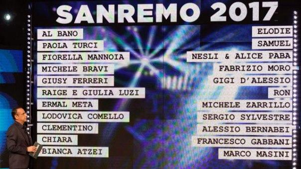 Sanremo 2017 campioni