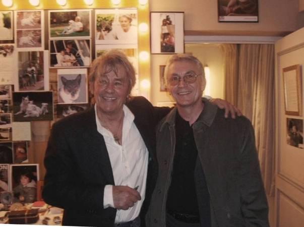Virgil Popescu si Alain Delon