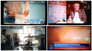 colaj tv cu incendiu din bamboo a