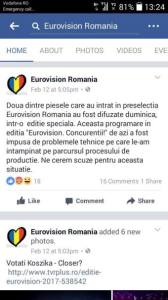 Eurovision scuze a