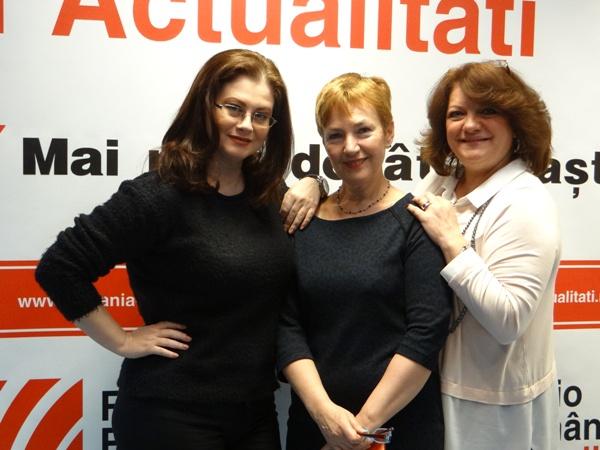 Corina Danila Mihaela Bustuchina si Carmen Movileanu la Radio Romania 2017