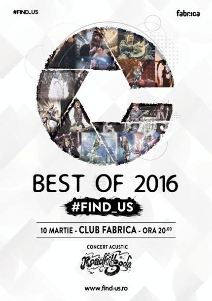 Find Us 10 martie