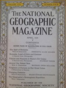 National Geographic Magazine Romania 1934 a