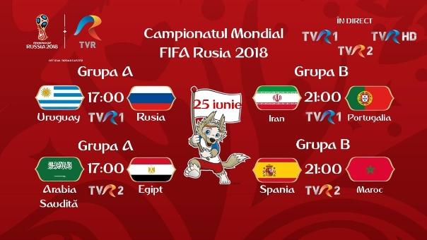 Programul zilei de 25 iunie_CM FIFA Rusia 2018 a