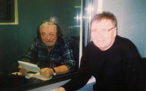 Eugen Rotaru si Romeo Vanica (cel din urmă prezenta știrile la Radio România)