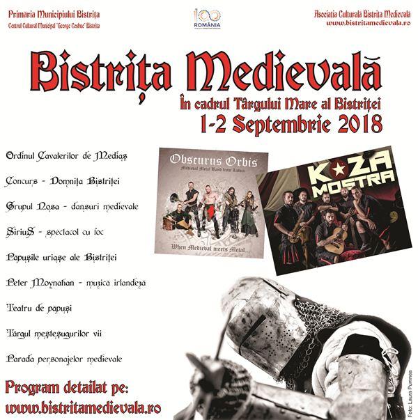 Bistrita Medievala 2 septembrie 2018