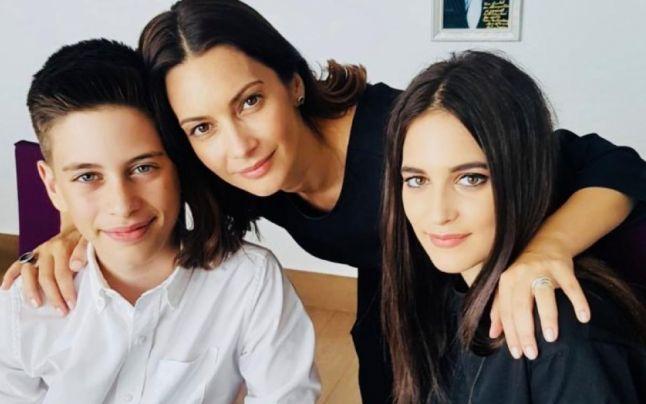 Andreea Berecleanu si copiii ei