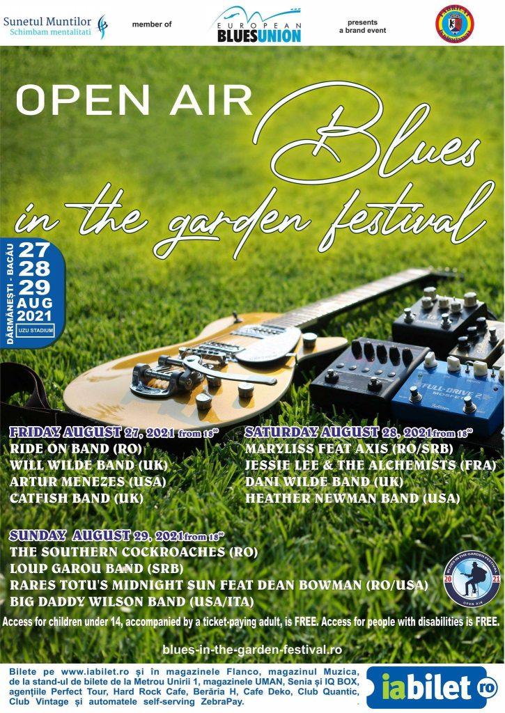 Open Air Blues in the garden festival, ediția #2 (27 - 29 august)