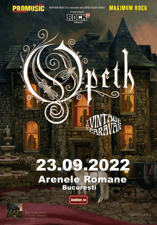 Concertul Opeth de la București a fost amânat pentru 2022