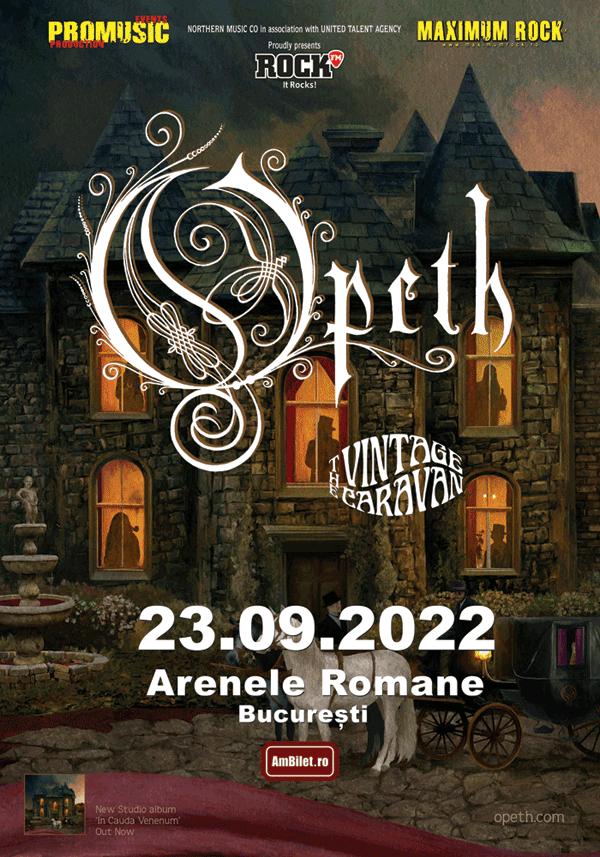 Concert Opeth: S-a suplimentat o categorie cu 100 de bilete (29 septembrie)