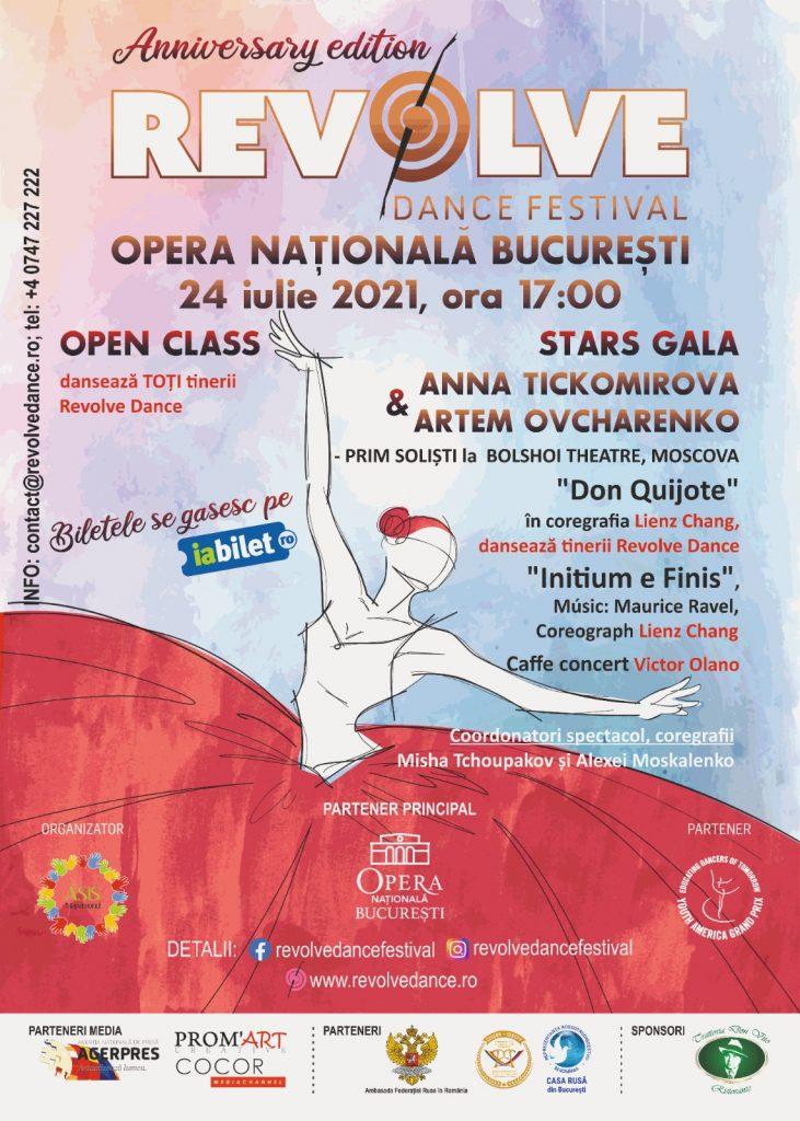 REVOLVE DANCE FESTIVAL (ediția 10) la Opera Națională din București (24 iulie)