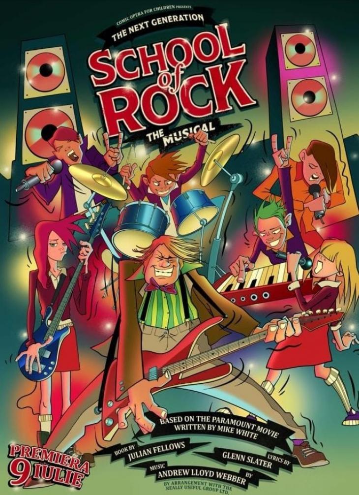 School of Rock, musical în premieră națională la Opera Comică pentru Copii (9-25 iulie 2021)