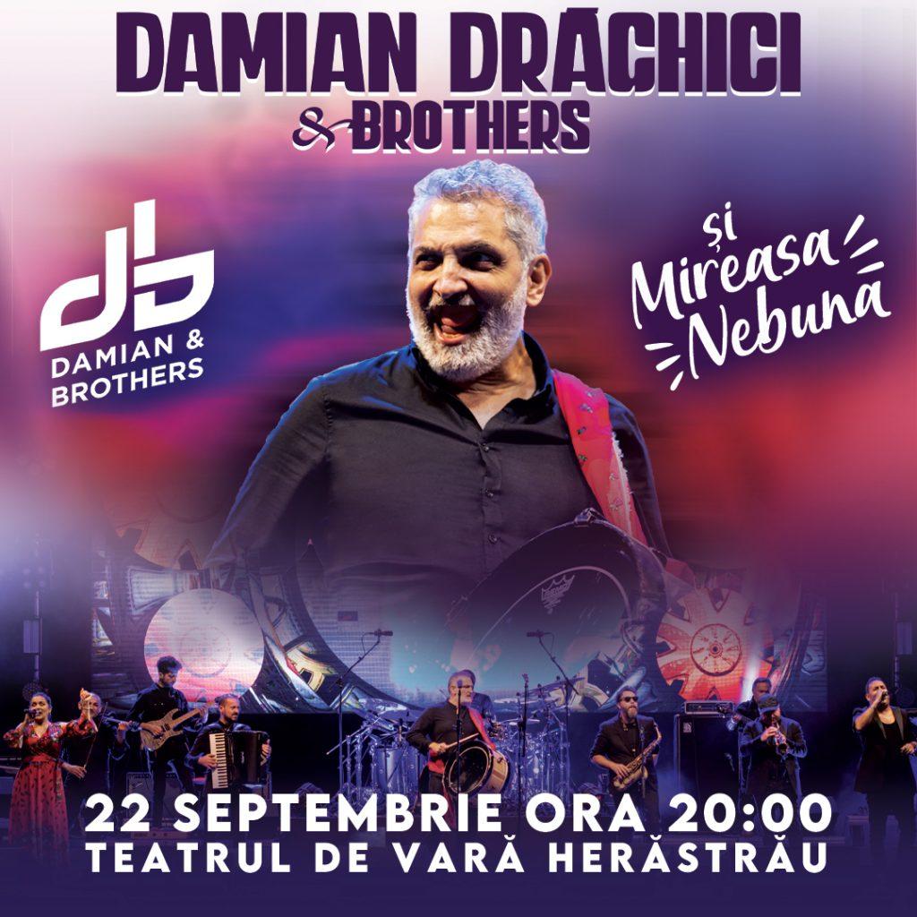"""Concertul DAMIAN DRĂGHICI & BROTHERS - """"Mireasa Nebună"""" se amână din cauza condițiilor meteo nefavorabile (22 septembrie)"""