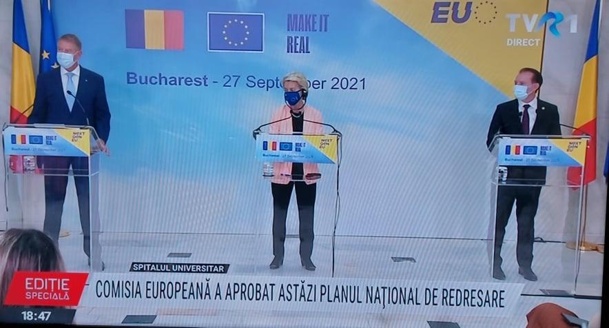 Comisia Europeană a aprobat PNRR-ul României, în valoare de 29,2 miliarde de euro, pentru investiții și reforme